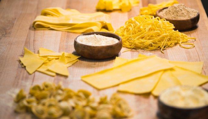 Fresh pasta varieties