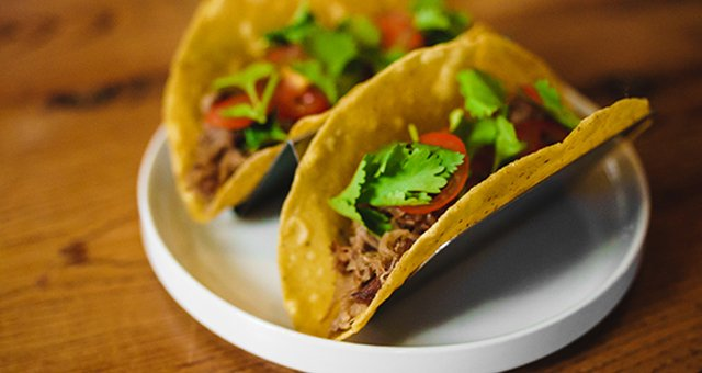 Duck Tacos on a plate